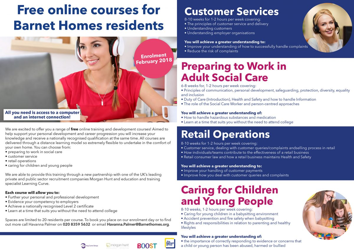 Free online accredited courses for Barnet Homes residents