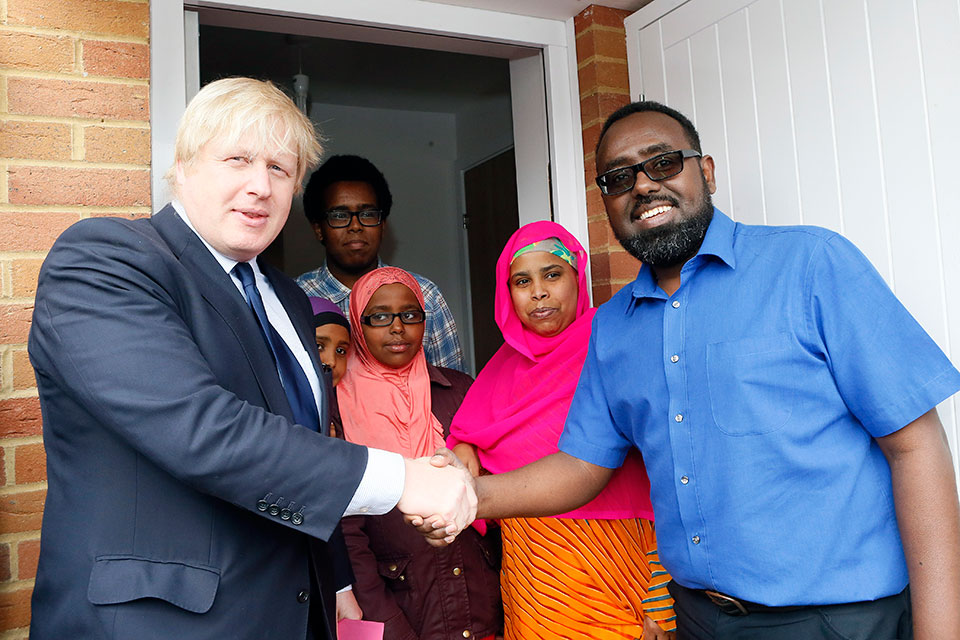 Boris Johnson and Alexandra Road residents
